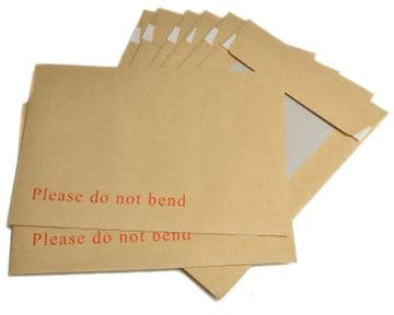 BOARD BACK ENVELOPES - 'PLEASE DO NOT BEND' BROWN CARD / PHOTO SELF SEAL MAILING